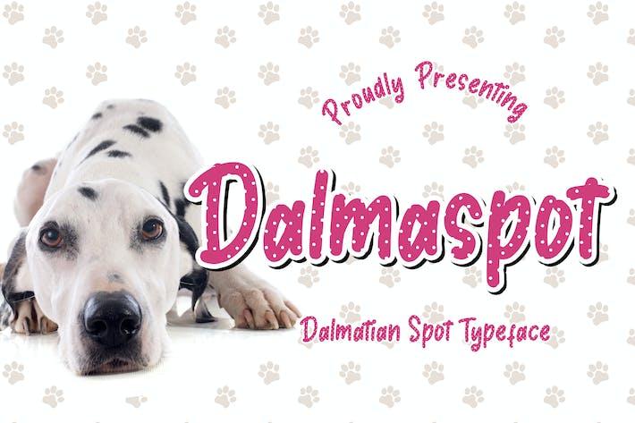 Thumbnail for Dalmaspot Dalmatian Spot Typeface