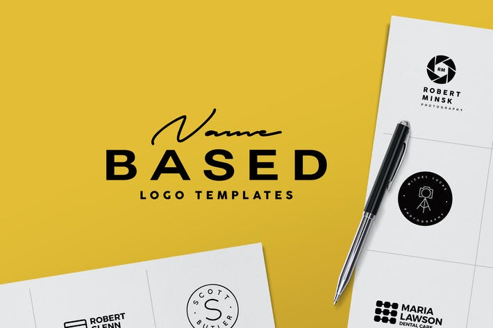 Thumbnail for Name Based Logo Templates
