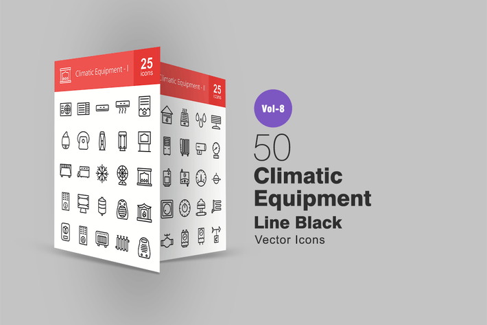 Thumbnail for 50 Climatic Equipment Line Icons