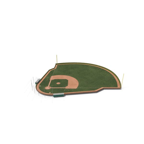 Baseball Field with Round Brick Wall with Ivy
