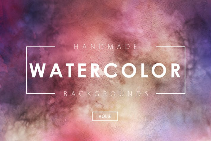 Thumbnail for Handmade Watercolor Backgrounds Vol.6