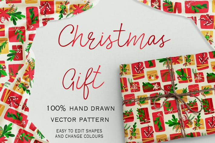 Thumbnail for Christmas Gift seamless pattern