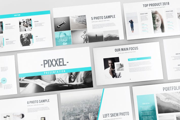 Thumbnail for PIXXEL - Google Slide Template V118