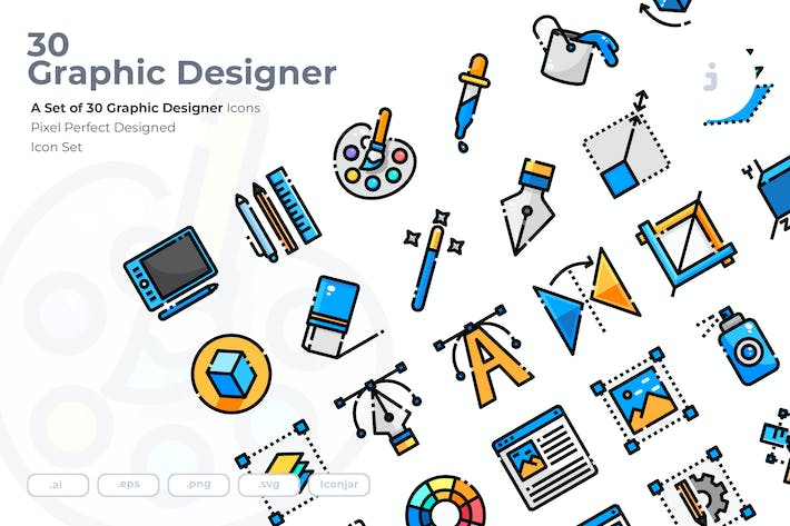 Thumbnail for 30 Graphic Design Icons
