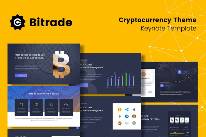 Thumbnail for Bitrade - Cryptocurrency Keynote Template