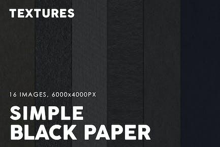 Texturas de papel simples negras