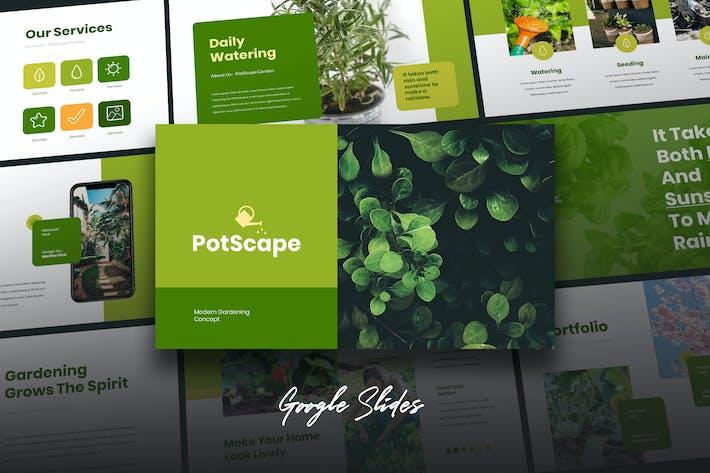 Postcape - Зеленый бизнес Google слайды Шаблон