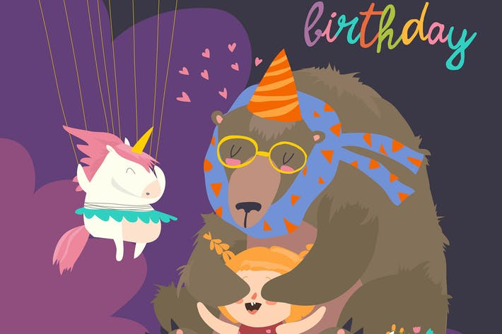 Thumbnail for Little girl celebrating Birthday with her friends