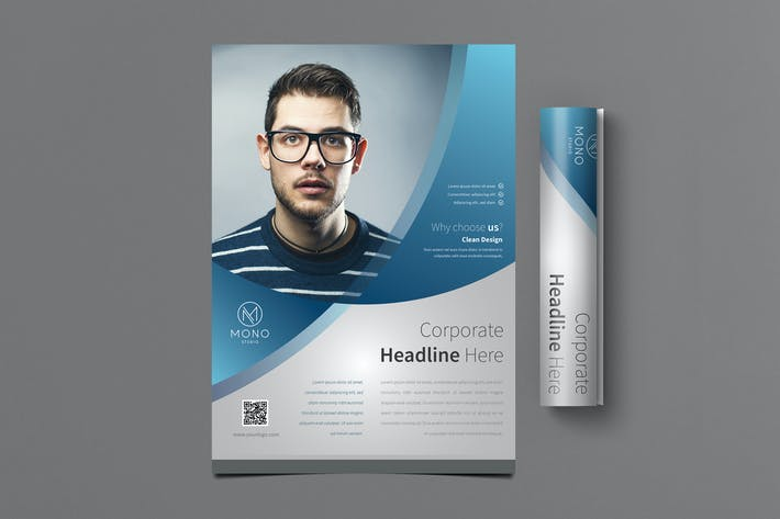corporate flyer template by vynetta on envato elements