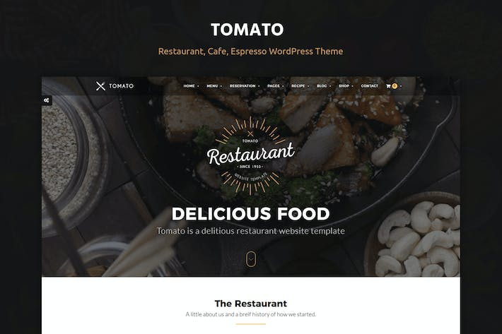 Thumbnail for Tomato Restaurante, Café, Espresso WordPress Tema