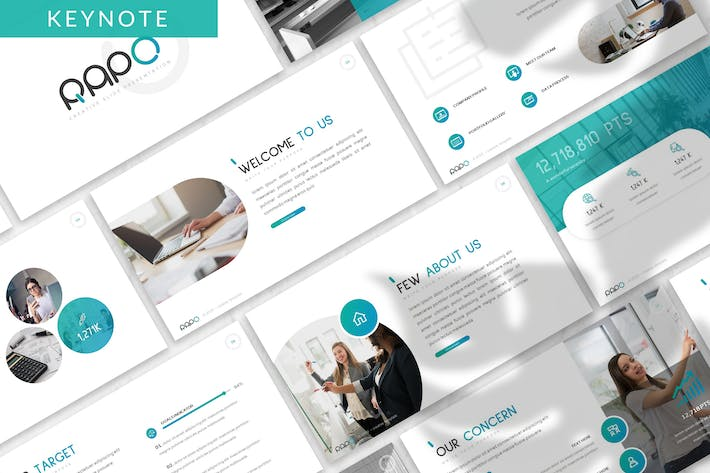 Thumbnail for Rapo - Business Keynote Template