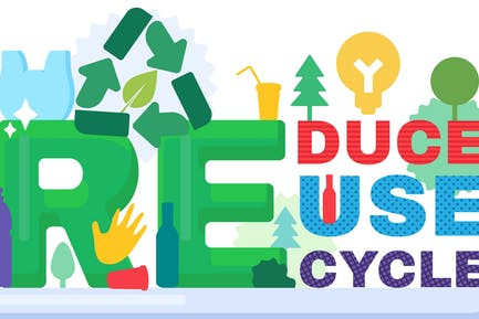 Recycle Waste Banner