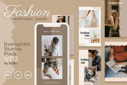 Instagram Stories Pack v.03 Fashion Promo