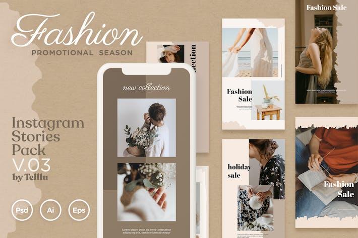 Thumbnail for Instagram Stories Pack v.03 Fashion Promo