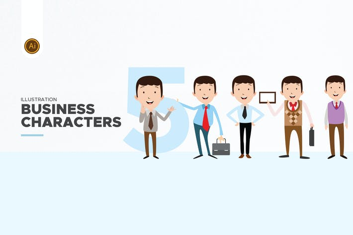 Thumbnail for Business Character Set 01