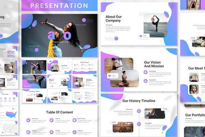 Amo - Yoga Presentation Template
