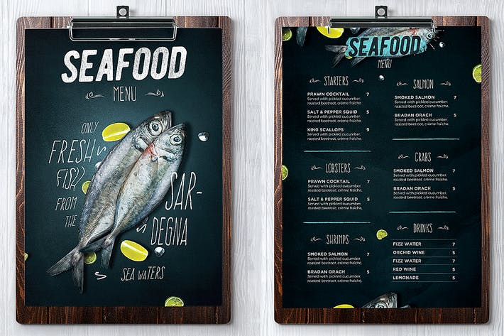 Thumbnail for Seafood Menu
