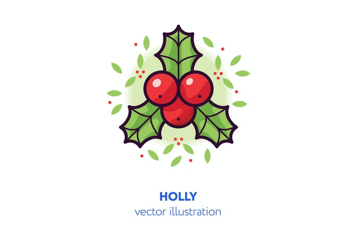 Thumbnail for Holly vector illustration