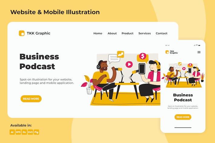 Thumbnail for Business Podcast Landingpage & Mobile Design