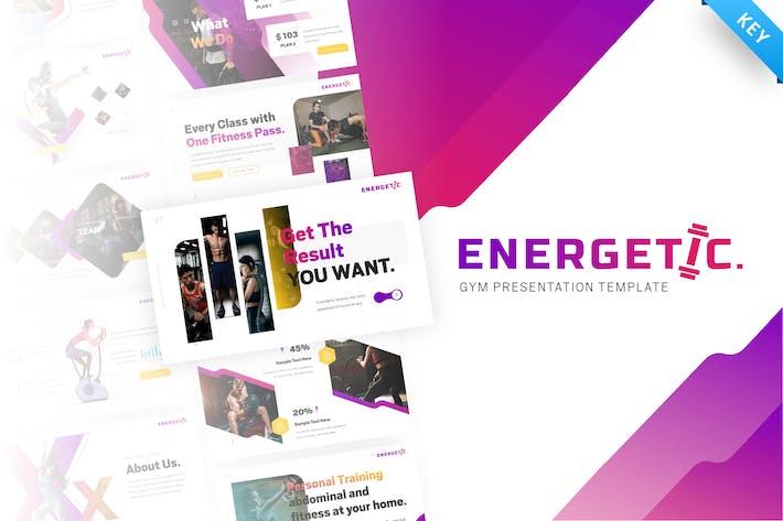 Energetic – Gym Keynote Presentation Template