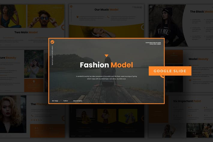 Cover Image For Fashion Model - Google Slide Template