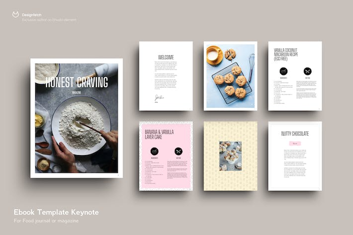 Thumbnail for EBOOK Template ⋮ Food ⋮ 23 Pages ⋮ Keynote