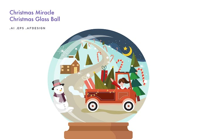 Thumbnail for Christmas Miracle - Weihnachtskugel aus Glas