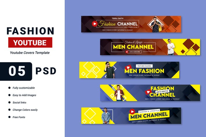 Thumbnail for Fashion Vlog Youtube Cover Template