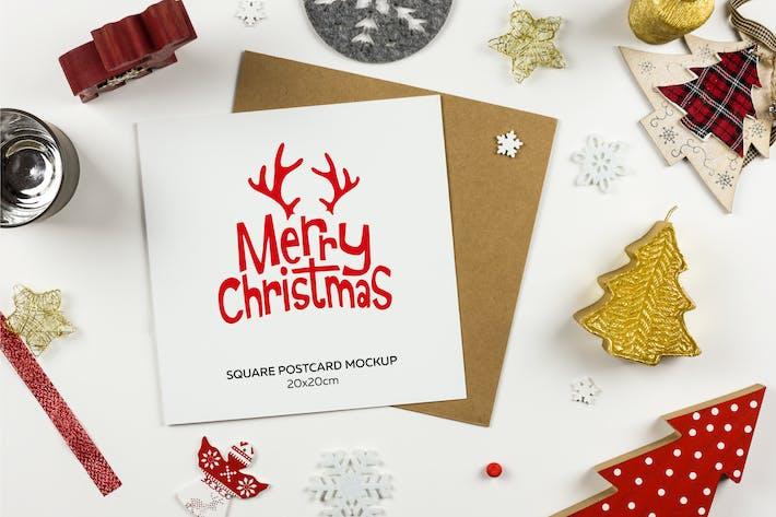 Thumbnail for Square Postcard for Christmas