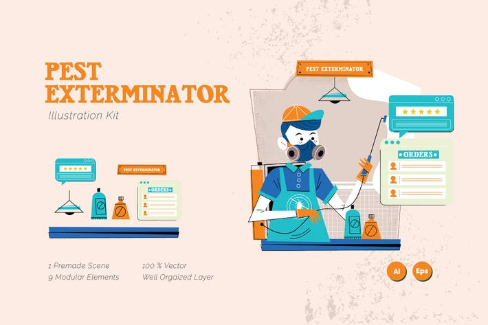 Thumbnail for Pest Extraminator Graphics Illustration