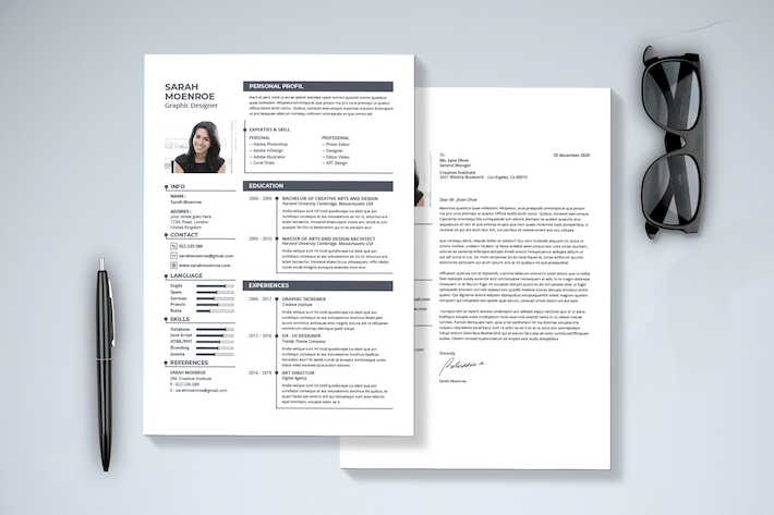 Thumbnail for Minimal Resume & Cover Letter
