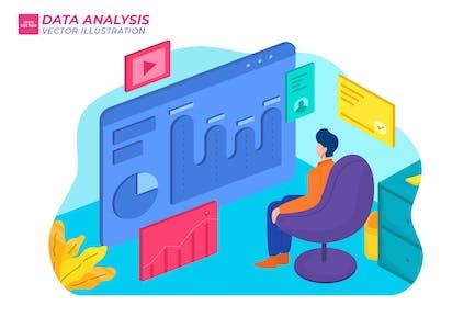 Data Analysis Flat Illustration