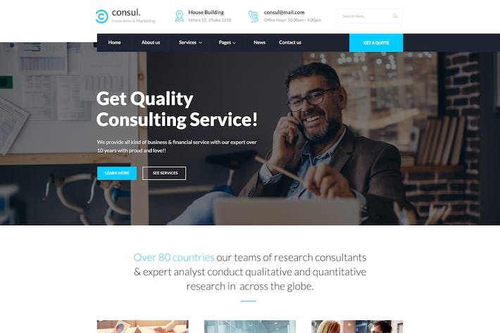 Thumbnail for Consul - Business & Training PSD Template