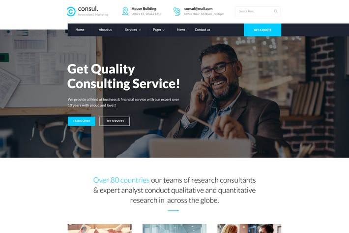 Consul - Business & Training PSD Template