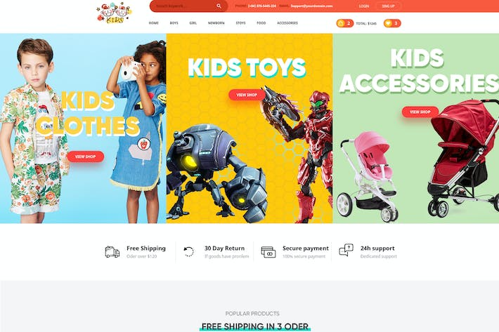 Thumbnail for Kids - PSD Template
