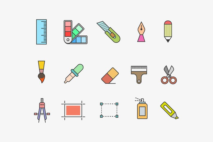 Thumbnail for 15 Design Tool Icons