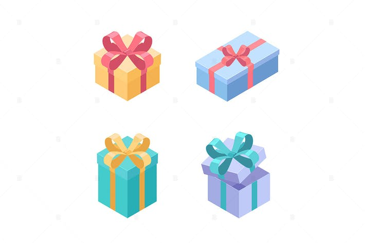 Thumbnail for Set of presents - isometric elements
