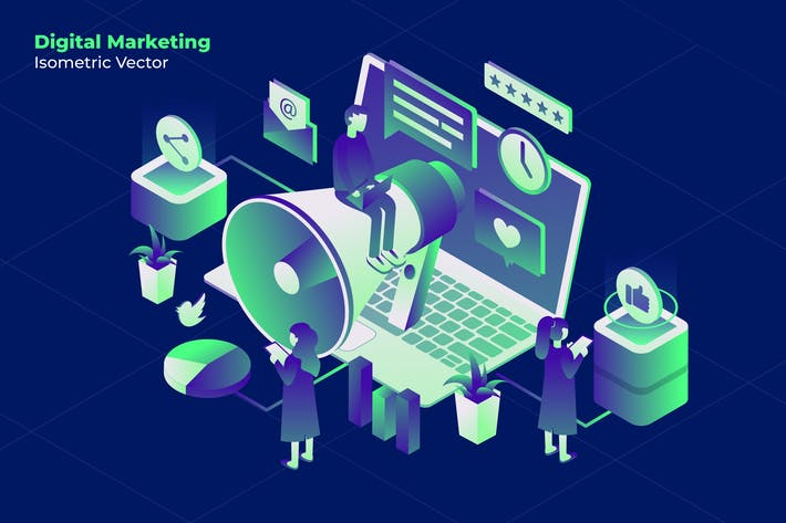 Thumbnail for Marketing Online - Vector Illustration