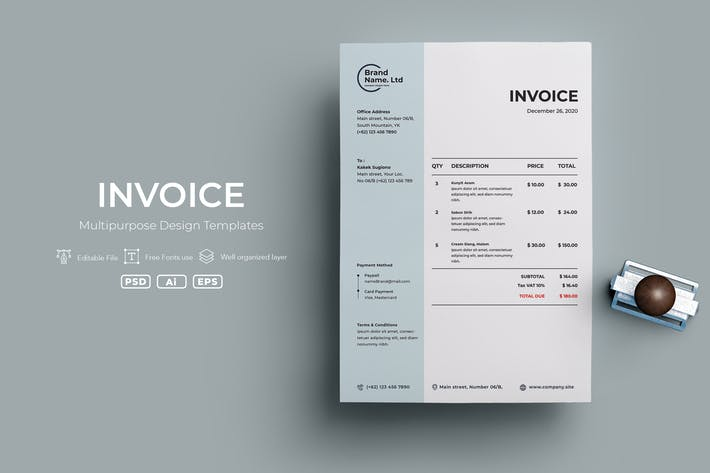 Thumbnail for ADL Invoice Template.v14