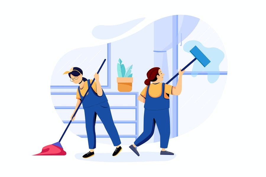 House Cleaning Service Illustrations concept
