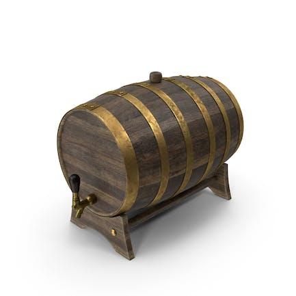 Бочка для виски из латуни
