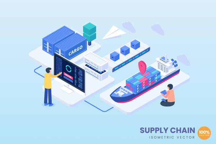 Supply Chain Concept Illustration