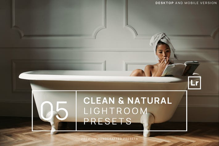Thumbnail for 5 Clean & Natural Lightroom Presets + Mobile
