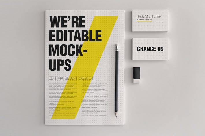 Cover Image For Realistic Stationery Mock-Up Set 1 - Corporate ID