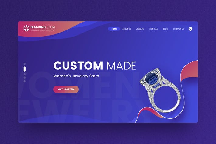 Thumbnail for Diamond - Jewelry Hero Header Template