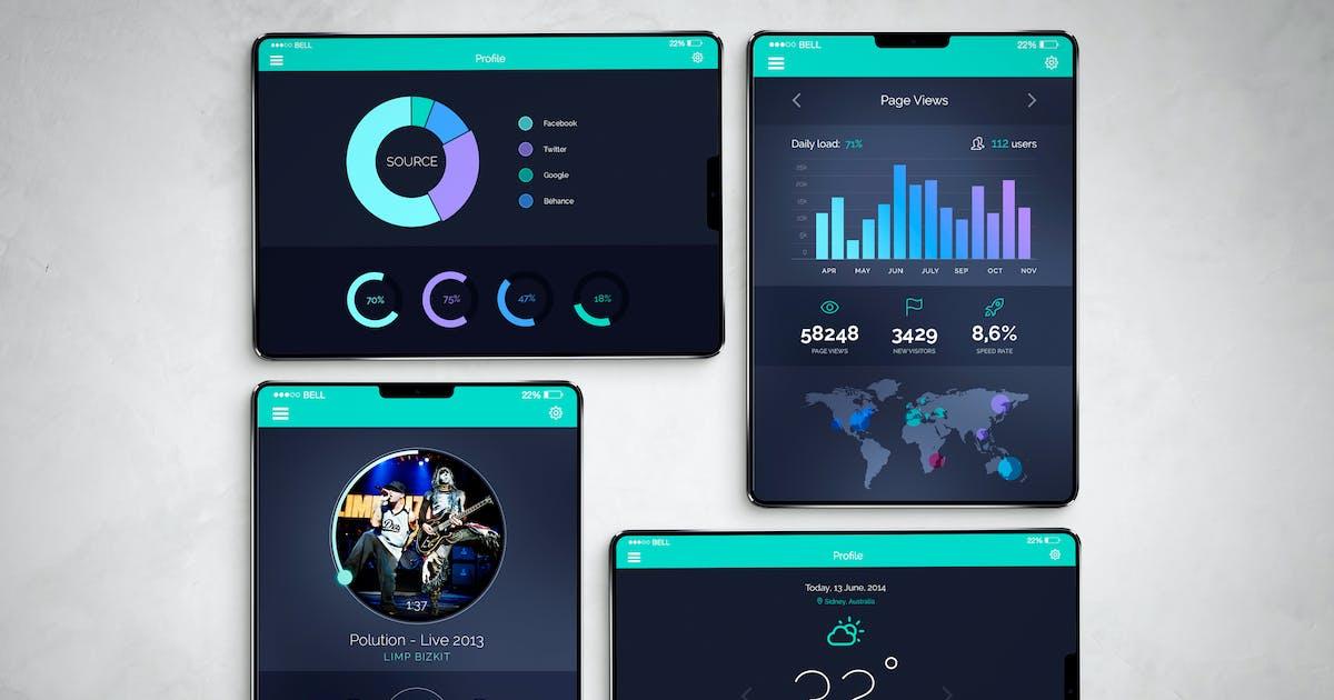iPad X Mockup by QalebStudio