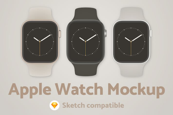 Thumbnail for Apple Watch Sketch Mockup