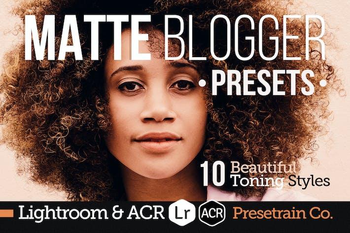 Thumbnail for Matte Blogger Presets for Lightroom & ACR