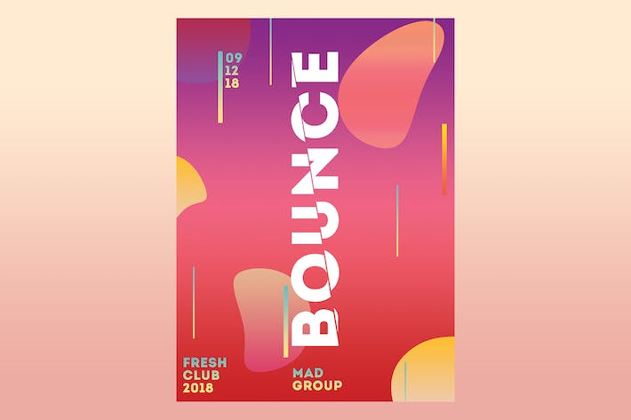Thumbnail for Bounce Party Flyer Poster