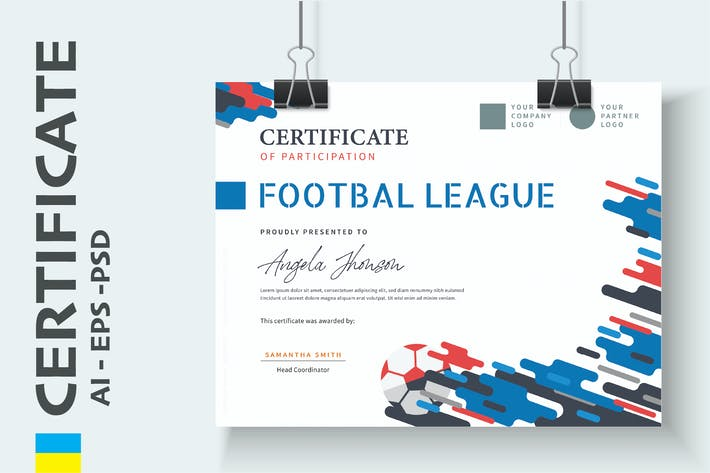 Thumbnail for Professional Sport Certificate / Diploma Template